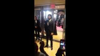Engin Akyurek Int. Emmy Awards Arrival w/ fans - November 24, 2015