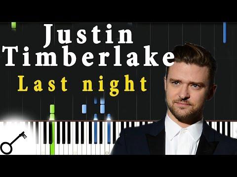 Justin Timberlake - Last night [Piano Tutorial] Synthesia | passkeypiano