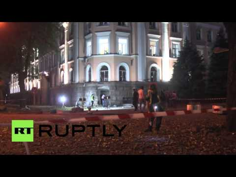 Ukraine: Blast rocks Security Services building in Odessa