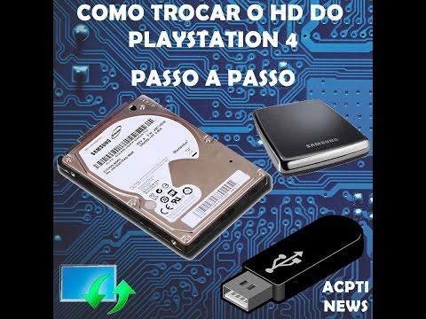 TROCANDO HD DO PLAYSTATION 4 - COMO FAZER