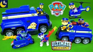 Paw Patrol Toys Ultimate Rescue Police Pups Toy Collection Mighty Pups Chase Marshall Fire Truck Toy