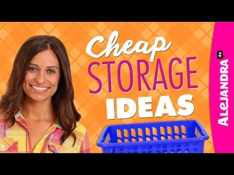 Cheap Storage Ideas - Dollar Store Haul