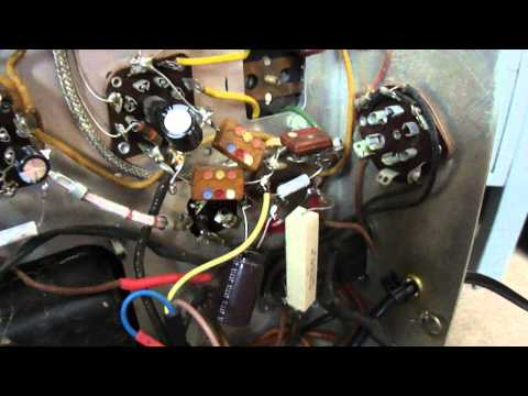 Late 1940's Westinghouse H-167 Radio Chassis Repairs