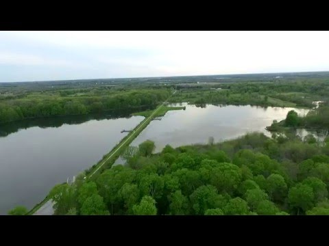 Drone Footage of Spencer Lake Ohio