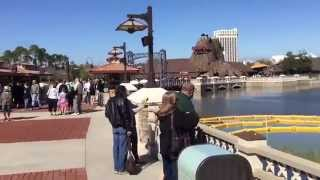 Walk across the new bridge at Downtown Disney - Walt Disney World
