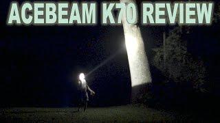 Acebeam K70 Flashlight Review. The best throwing production flashlight of 2016- 500,000 candela!