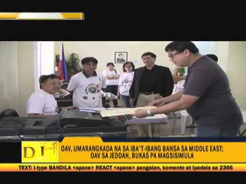 Middle East, Hong Kong OFWs cast votes