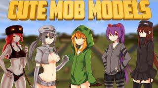Minecraft Mods - Cute Mob Models【1.12.1】[Chicas Anime en Minecraft :v]