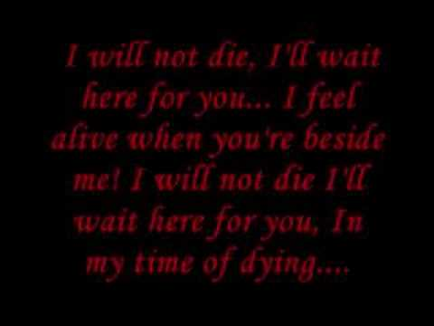 Time of Dying lyrics: Three Days Grace One-X