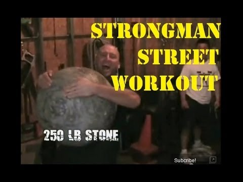 Team Barbarian Strongman Training Workout on my Street Image 1
