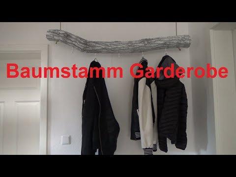 Baum Garderobe selber machen Baumstamm Garderobe selber bauen