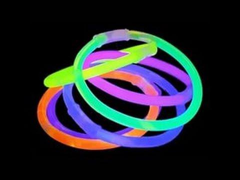 Неоновые браслеты своими руками