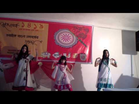 Pohela Boishakh 1419 --  in Bangla New Year function 2012 - baje re baje dhol ar dhak dance