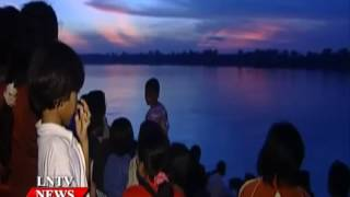 Lao NEWS on LNTV: Thousands of people will flock to witness the Naga fireballs.9/10/2014