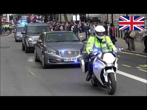 David Cameron resign - Metropolitan Police SEG Convoy