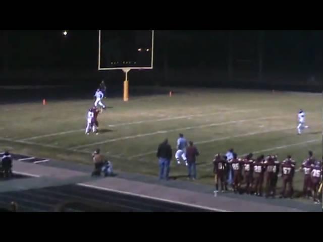 11-6-09 - C.J. Kukus hauls in this 27 yarder from Eric Garcia (Brush 28, University 0)
