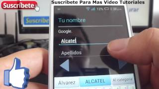 Alcatel Onetouch Pop C7 como inventar cuenta en google Español
