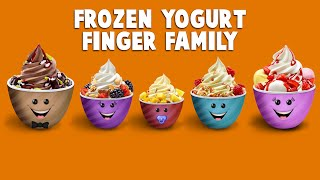 The Finger Family Frozen Yogurt Family Nursery Rhyme | Yogurt Finger Family Songs