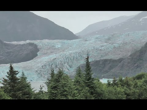THE MENDENHALL GLACIER and NUGGET FALLS, JUNEAU, ALASKA