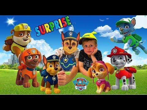 ЩЕНЯЧИЙ ПАТРУЛЬ! Распаковка сюрпризов героев из мультика. Видео для детей.