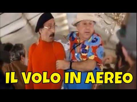 Paolo Villaggio ► Il Terribile Viaggio...sull'Aereo del Volo Charter - Con Lino Banfi