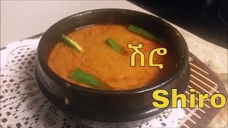 Ethiopian shiro Cooking using pan