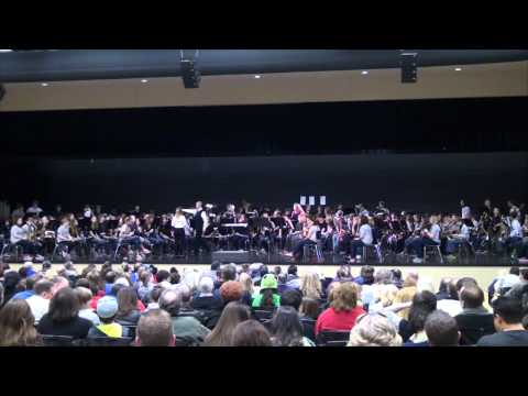 Mt Juliet Middle School and Mt Juliet High School Band 2013 Spring Concert (HD)