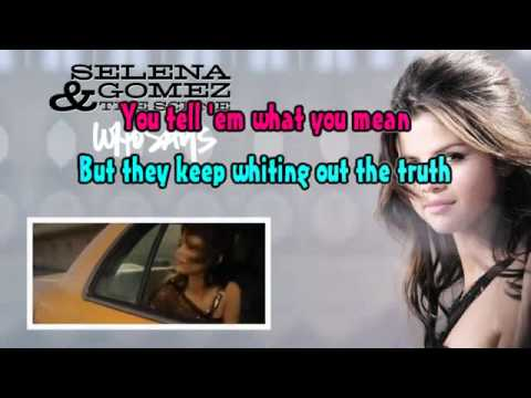 Who Says – Selena Gomez – Karaoke – Lyrics