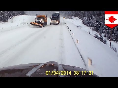 Trucks Nearly Crash: Dash Cam Video Goes Viral In Ontario, Canada video