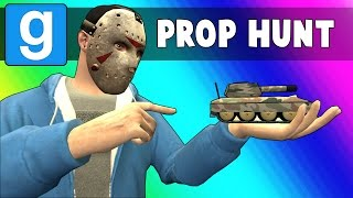 Gmod Prop Hunt Funny Moments - Crayons & Tanks! (Garry