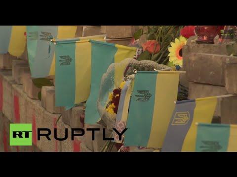 Ukraine: Klitschko lays flowers on Maidan anniversary