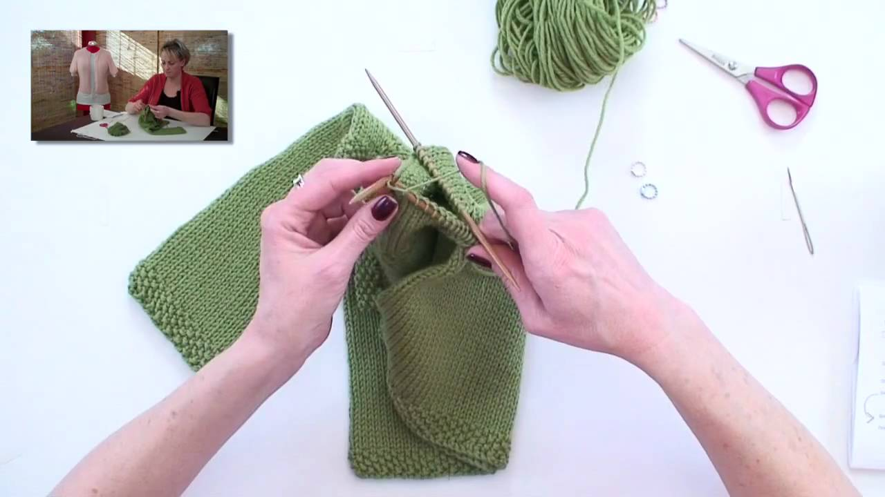 How to knit sleeves with needles 80