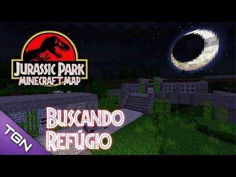 Jurassic Park Minecraft Map :: Ep 1 :: Buscando Refúgio
