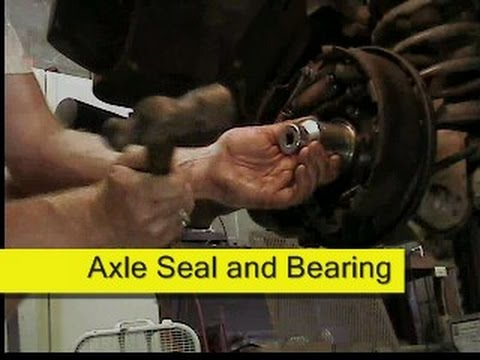 Axle seal and bearing 2002 Jeep Wrangler TJ DIY