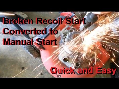 Pull start broken? Convert it to Manual pull start