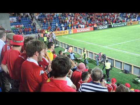 Andorra Wales 9 September 2014 - Gareth Bale Scores Free Kick + Crowd Invasion