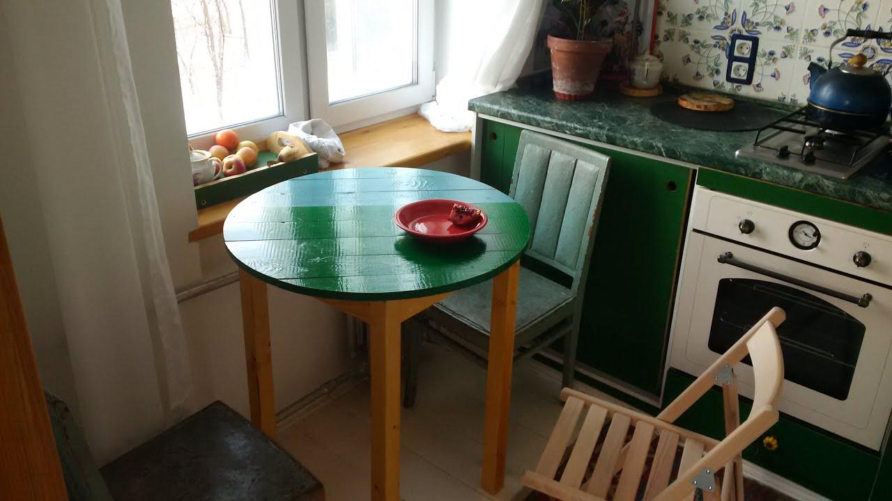 Из чего сделать стол на кухне своими  79