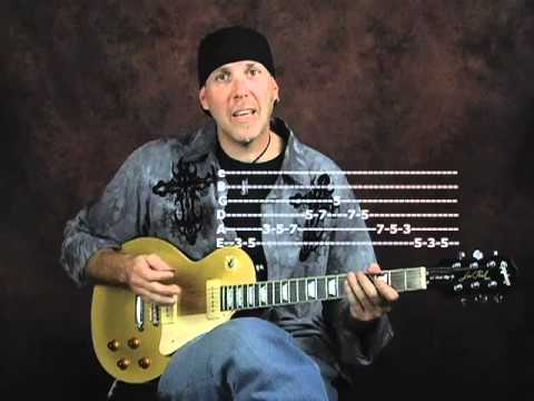 0 Rock blues lick of week with pentatonic scale using Epiphone Les Paul Goldtop