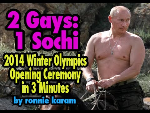 2 Gays: 1 Sochi: Olympics Opening Ceremony in 3 Minutes