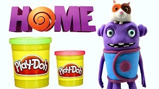 Play Doh Oh & Pig from HOME Stop Motion Animación - Dreamworks Playdough