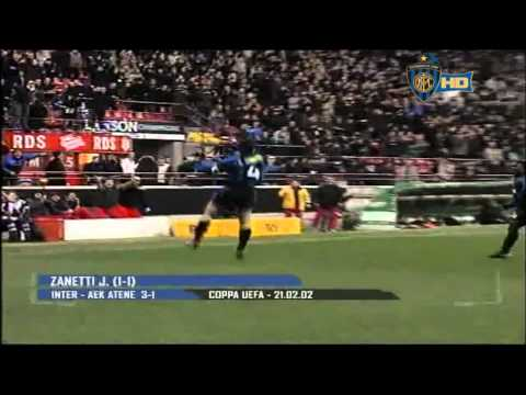 Javier Zanetti | All goals with Inter | Interistat.com | HD