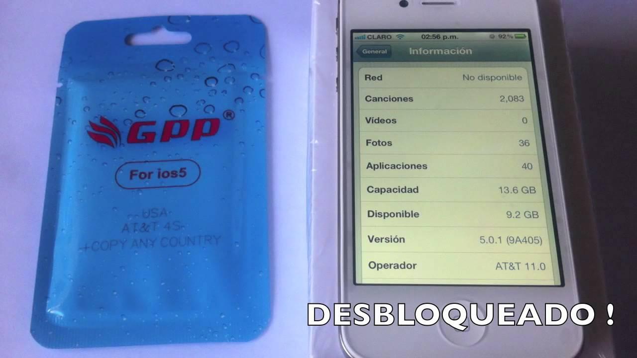 GPP SIM Unlock para iPhone 4S - Clasificados ST EL SALVADOR - YouTube