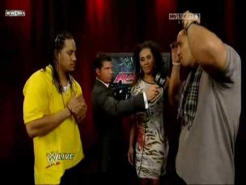 Josh Matthews interviews The Usos and Alicia Fox (RAW 07 05 2010)