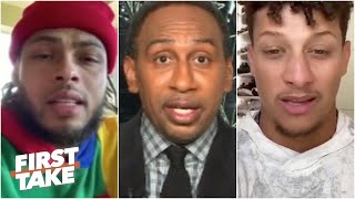 Stephen A. reacts to NFL stars teaming up for a powerful message to the league | First Take