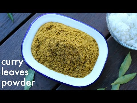 curry leaves powder recipe | karuveppilai podi | karivepaku podi | karibevu chutney pudi