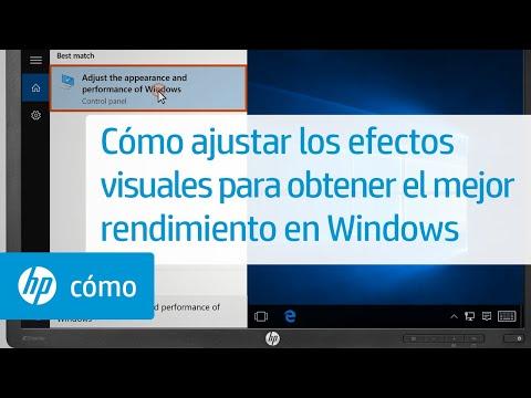 Cómo ajustar los efectos visuales para obtener el mejor rendimiento en Windows   HP Computers   HP