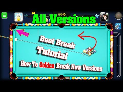 8 Ball Pool How To Golden Break Tutorial  New Versions -Best Break So Far 100% Accurate- Fanatic Cue