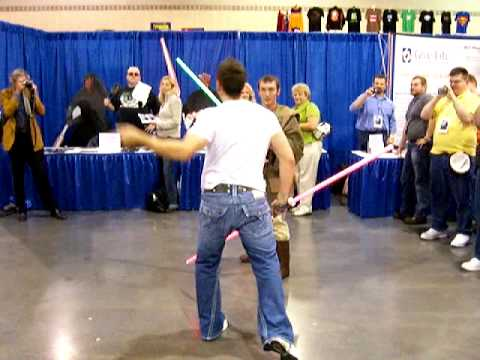 Star Wars Ray Park Darth Maul Lightsaber Duel (Part 1 of 3)