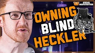 Gun-toting Blind Heckler in a Wheelchair Threatens Comedian - Steve Hofstetter