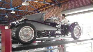 Bugatti Type 57 Type 59 Special Roadster Exhaust Sound